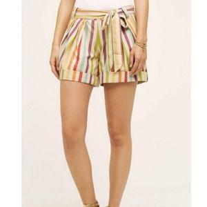 Eva Franco striped cuffed shorts size 4